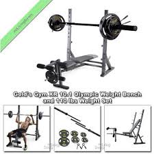 olympic style weight bench gold gym xr 10 1 olympic bench press weight lifting fid and 110 lb