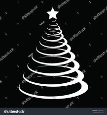 black white christmas tree stock vector 108436025 shutterstock