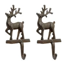 cast iron reindeer holders set of 2 tree
