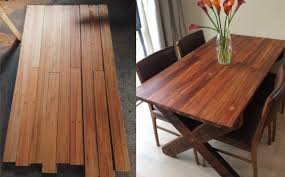 Reclaimed Timber Dining Table How To Build A Dining Table With Reclaimed Materials Modern Wood