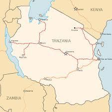 Tanzania Map Railway Stations In Tanzania Wikipedia