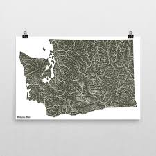 Washington State Printable Map by Washington State Our Water Print Wilderness Made