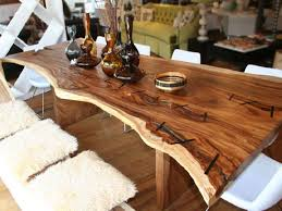 cool dining room tables pleasing decor da wood slab dining table