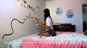 Diy Painting Walls Design Diy Paint A Headboard On Your Wall Youtube