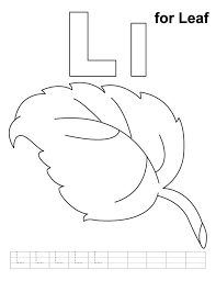 leaf alphabet coloring pages free alphabet coloring pages of