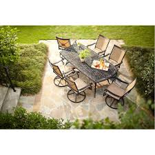 Patio High Dining Table by Hampton Bay Solana Bay 7 Piece Patio Dining Set Asr Set 1148 7