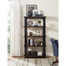 curved bookcase wayfair