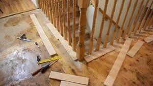 How To Install Stair Banister Fitting Flooring Around Stair Rail Spindles