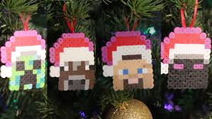 minecraft 8 bit ornaments diy geeky goodies