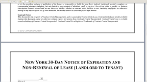 Termination Of Lease Letter New York 30 Day Notice Of Expiration And Non Renewal Of Lease
