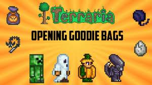 Halloween Gift Bag by Terraria Ios 1 2 4 Goodie Bag Opening Halloween Update Youtube