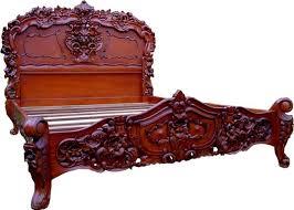 Rococo Bed Frame Mid Mahogany Rococo Bed Crown Furniture