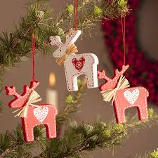 wooden nordic reindeer decoration christmas navidad