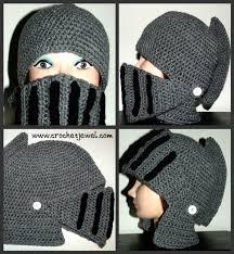 crochet pattern knight helmet free crochet boy s and men s knight helmet hat free pattern links