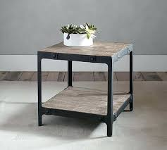 West Elm Bedside Table Side Table Von Iron Side Table From Souda Black Wood Top Modern