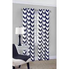 White Cotton Curtains Mainstays Chevron Polyester Cotton Curtain With Bonus Panel
