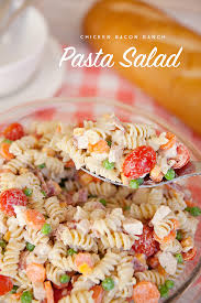 Creamy Pasta Salad Recipes by Chicken Bacon Ranch Pasta Salad With Creamy Greek Yogurt Dressing