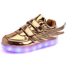 kid shoes 2017 new popular style children shoes wings led light kid shoes