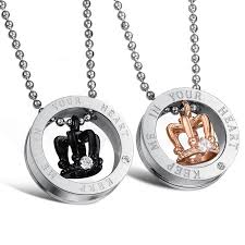 titanium stainless steel necklace images 50 best yoyoon his hers necklaces images drop jpg