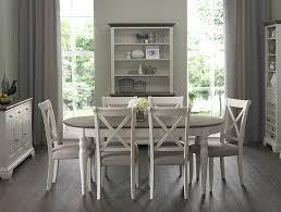 Ramsdens Home Interiors Bentley Designs Hstead Oval Dining Set Grey Walnut Dining Sets