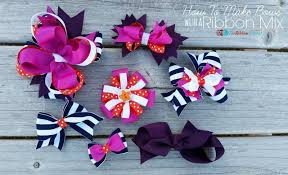 hair bows how to make hair bows with a ribbon mix the ribbon retreat