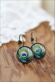 peacock feather earrings s peacock feather earrings peacock earrings peacock jewelry