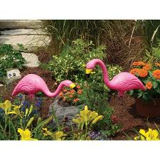 bloem pink flamingo 25 garden yard statue 2 pack walmart