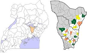 Map Of Uganda Map Of Uganda With Kamuli District 2010 Borders And Study