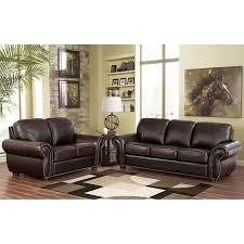 brown leather living room sets breckenridge 2 piece top grain leather living room set