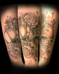 skull arm sleeve 17 lantern tattoos on sleeve