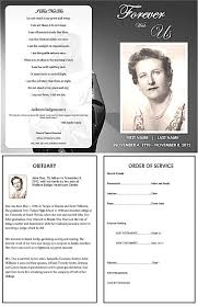 memorial service programs memorial service program template funeral templates programs