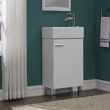 18 Inch Bathroom Vanities Urbana White 18 Inch Single Bathroom Vanity Set Free Shipping