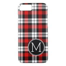 plaid vs tartan custom black red lumberjack tartan plaid pattern iphone 8 7 case
