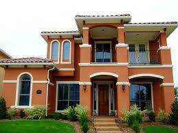 application of paint colors for house exterior escorted by red