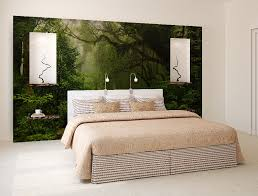 Wall Mural Sunrise In A Forest Wall Paper Self Adhesive Enchanted Forest Wall Mural Self Adhesive Photo Mural