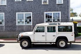 old white land rover the street peep 1993 land rover defender 110