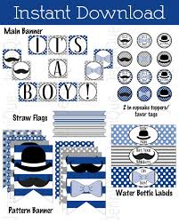 baby shower mustache theme printable mustache and bow ties baby shower theme it s a