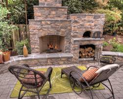 outdoor fireplace and pizza oven houzz