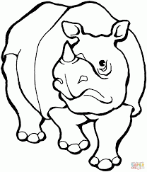 coloring pages delightful rhinoceros coloring pages rhinoceros