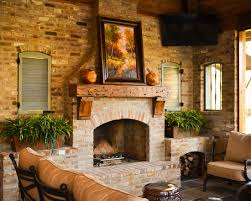 kitchen mantel decorating ideas fireplace fascinating rustic patio with cool brick fireplace