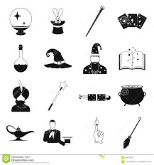 vector illustration people icons halloween magic stock vector