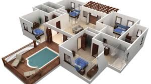 House Plan AutoCAD 3D House Modeling Tutorial 1