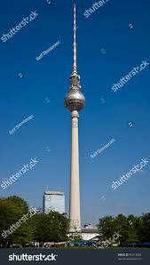 television tower berlin represents tallest building stock photo
