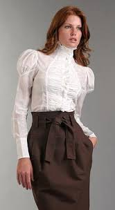 high neck ruffle blouse couture fashion style styles i
