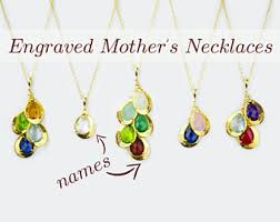 Name And Birthstone Necklace Birthstone Necklace Etsy