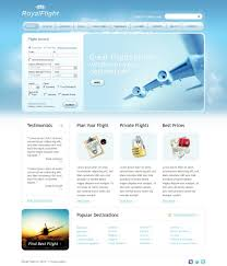 airline tickets website template 29501