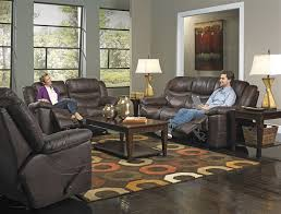 Catnapper Power Reclining Sofa Valiant Power Reclining Sofa With Drop Table In Coffee