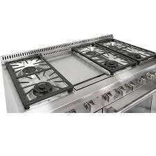 48 Inch Cooktop Gas Thor Kitchen 48 Inch Stainless Steel Professional Gas Range With 6