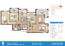 77 Harbour Square Floor Plans Floor Plan Of Ansam Yas Island