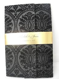 Gatsby Invitations Black And Gold Wedding Invitations
